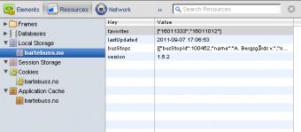 Resource inspector, Chrome