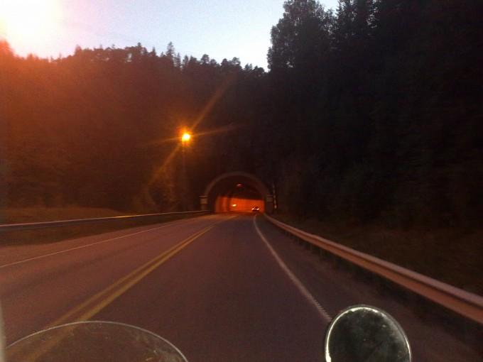Å kjøre i tunnel var mer turbulent enn jeg ante (foto: Petter passasjer)
